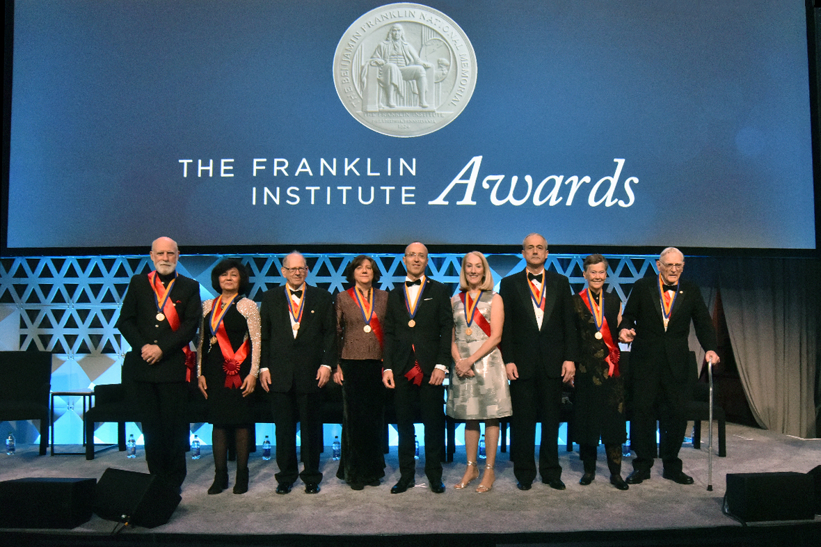 2018 Franklin Institute Awards Laureates on stage