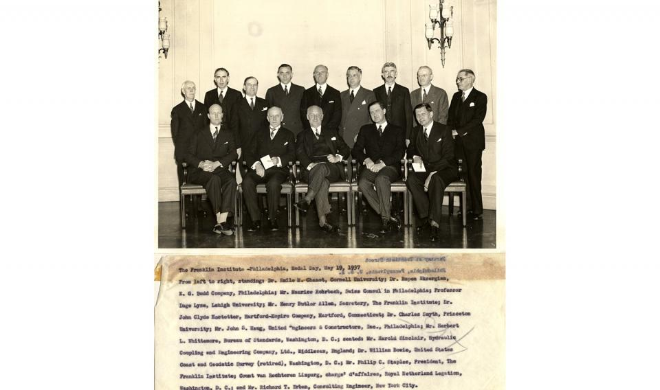 Photograph of Medal Day Attendees 5/19/1937.