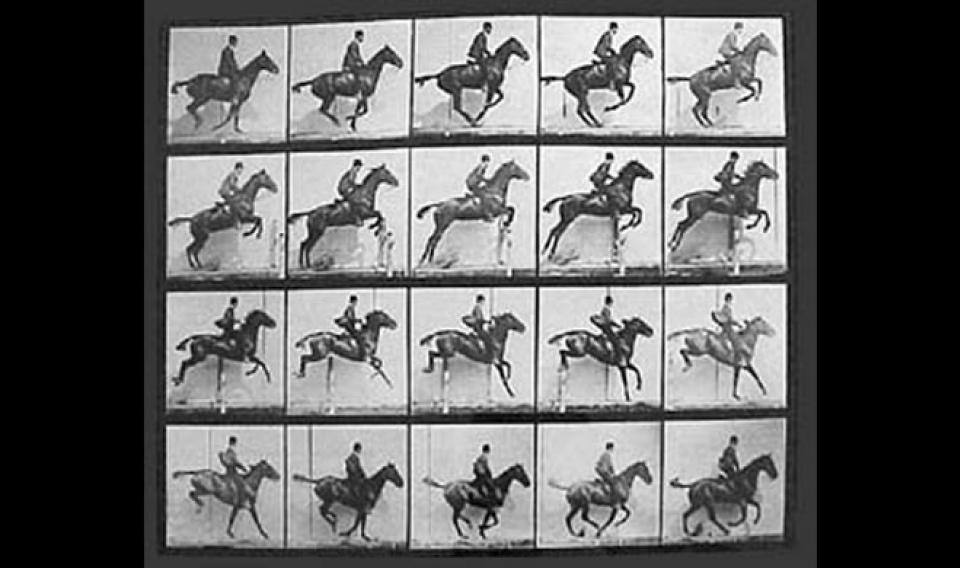 Photo of early motion pictures.