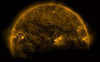 Solar Eclipse of Earth in front of the sun captured by NASA's Solar Dynamics Observatory