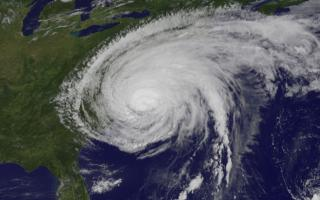 The GOES-13 satellite saw Hurricane Irene on August 27, 2011 at 10:10 a.m. EDT after it made landfall at 8 a.m. in Cape Lookout, North Carolina. Irene's outer bands had already extended into New England.