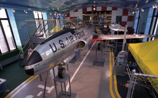 The Franklin Airshow exhibit at The Franklin Institute.