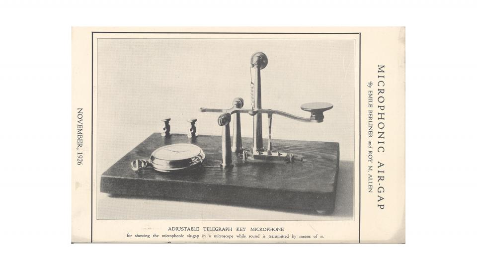 Photo of the Microphonic Air-Gap. November, 1926.