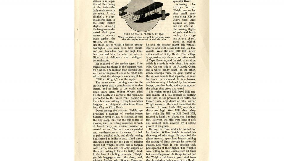 "Page 2 of 14: ""World's Work"" magazine article on the Wright brothers, September, 1928"