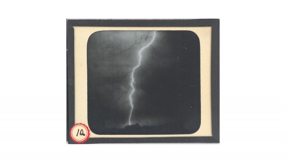 2nd page out of 2 of The Franklin Institute's collections for Jennings' photography of lightning.