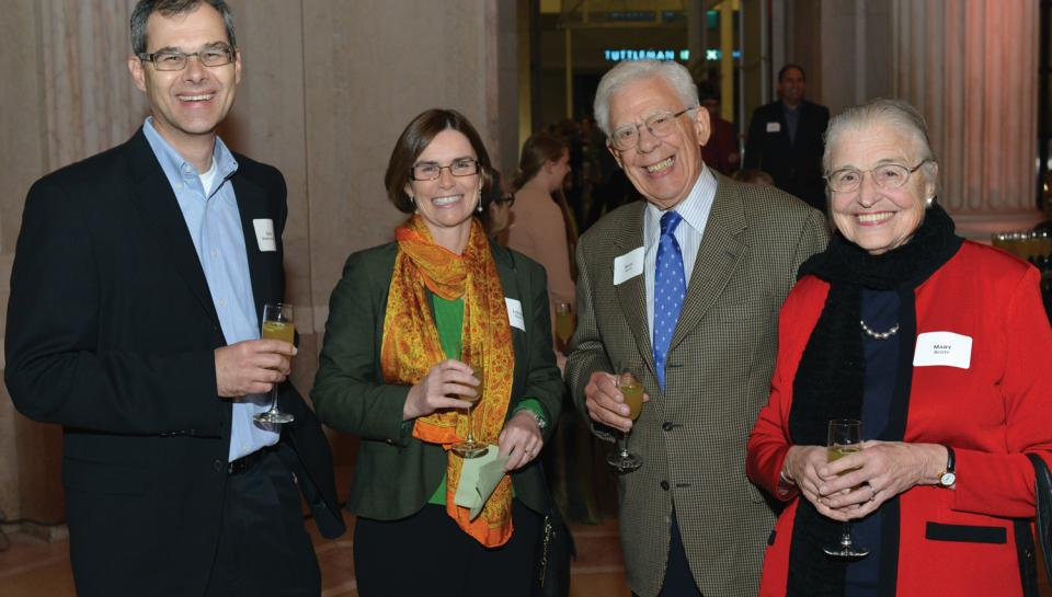 Honored guests at the reception for the One Day in Pompeii traveling exhibit at The Franklin Institute.
