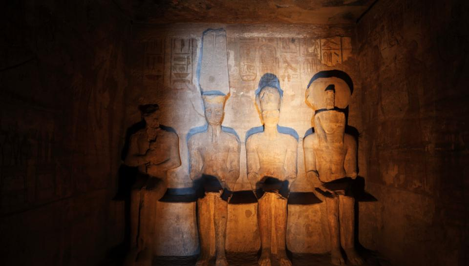 Inside the Great Temple of Abu Simbel